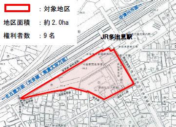 多治見駅南地区の地図