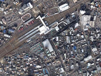多治見駅南地区の航空写真