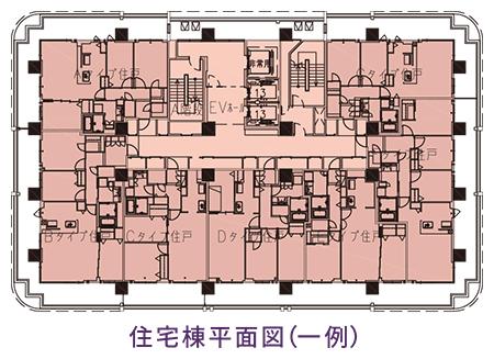 住宅棟平面図