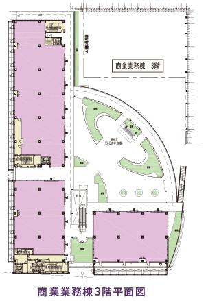 商業業務棟3階平面図